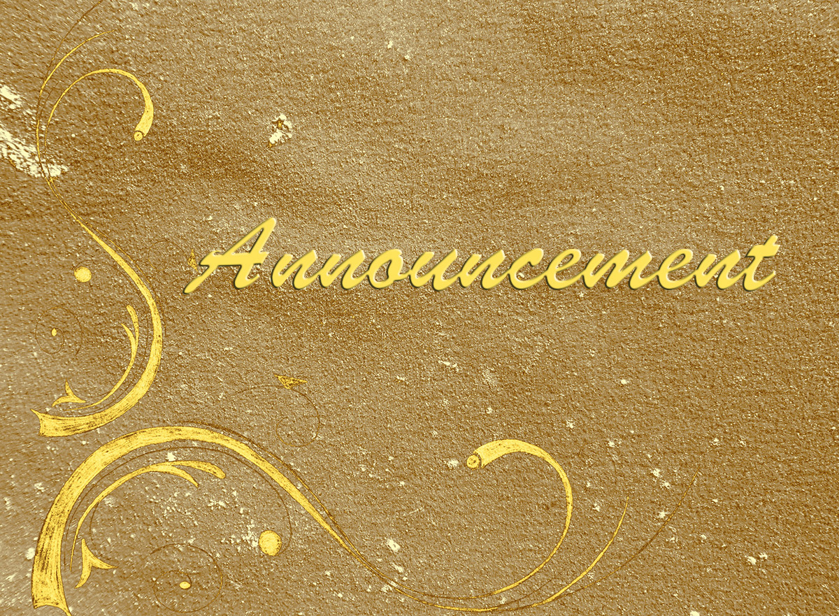 Announcement.